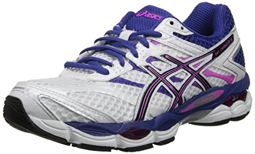 ASICS Women's Gel-Cumulus 16 Running Shoe,White/Black/Hot Pink,12 M US
