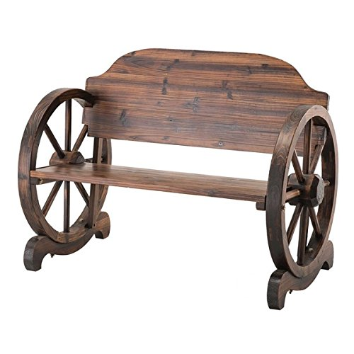 Walker Wagon Wheel Water Resistant Bench Outdoor Benches Patio And Furniture