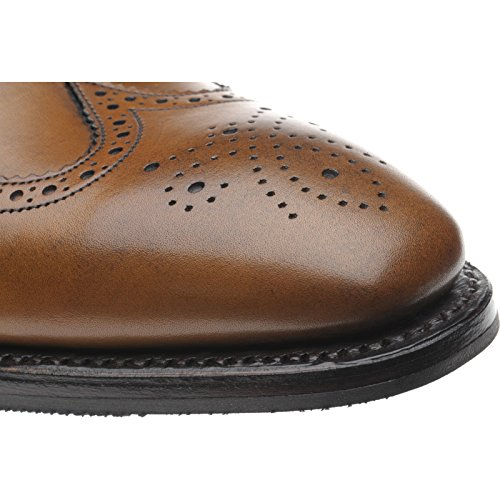 Aringa Gladstone II rubber-soled Brogue polpaccio in mogano