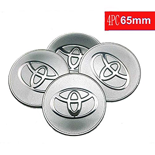 65mm Toyota Wheel CENTER Cover Sticker Car Styling Accessories Emblem Badge Wheel Hub Caps Centre Cover for TOYOTA COROLLA RAV4 Camry CROWN PRIUS REIZ VIOS YARIS EZ VENZA HIGHLANDER ALPHARD 4pcs set (Emblem Camry)