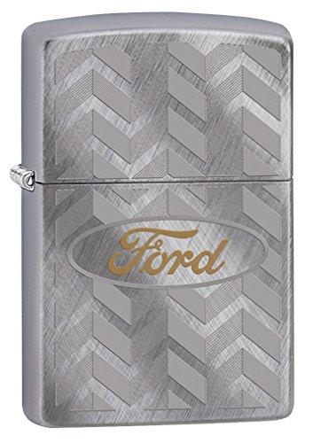 (Zippo Lighter: Ford Logo Engraved - Diagonal Weave 79317)