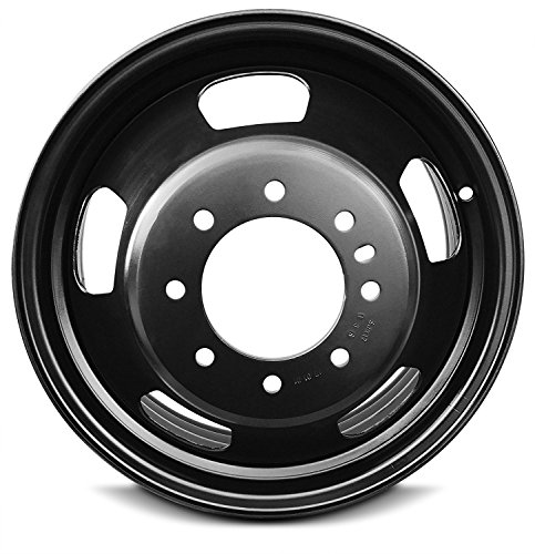 - Road Ready Car Wheel For 2003-2019 Dodge Ram 3500 17 Inch 8 Lug Black Steel Rim Fits R17 Tire - Exact OEM Replacement - Full-Size Spare