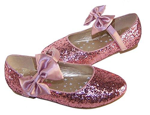 Mädchen rosa Glitzerballerina besonderen Anlass Schuhe