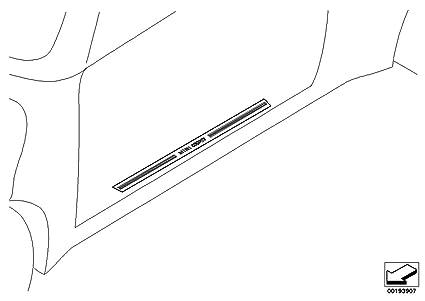 Amazoncom Mini Cooper Brushed Aluminum Door Sill Plate Cover For