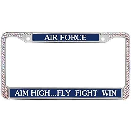 Amazon.com: GND Bling License Plate Frame for Car,US AIR Force ...