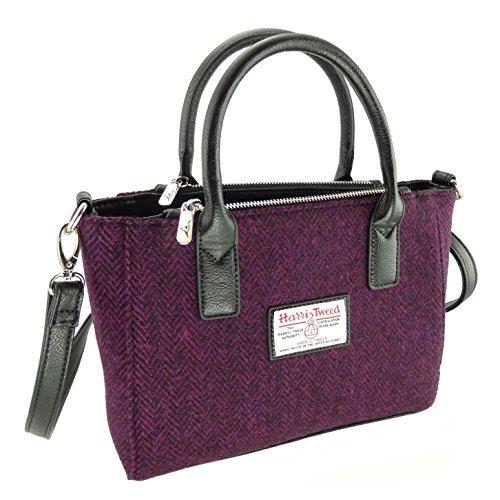 Ladies 100% Harris Tweed Brora Small Tote Bag With Shoulder Strap LB1228 Col 67