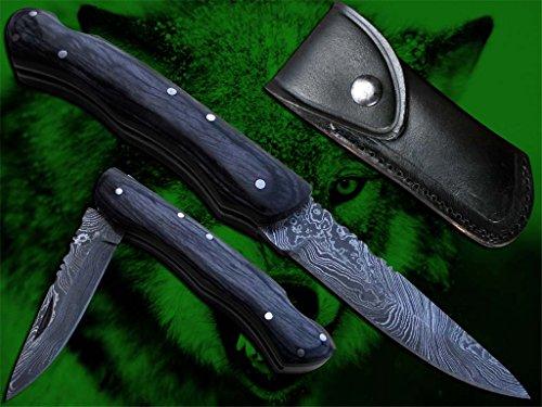 New Damascus Steel Blade folding, pocket, Hunting Knife. 1322