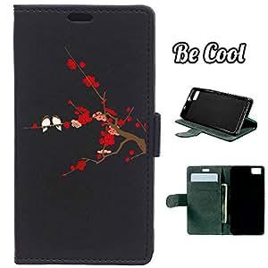 BeCool® - Funda carcasa tipo Libro para bq Aquaris M4.5 protege tu Smartphone ya que se adapta a la perfección, tiene Función Soporte, ranuras para tus tarjetas y billetes sin olvidar nuestro exclusivo diseño