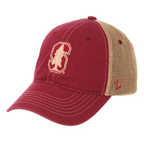 Zephyr NCAA Stanford Cardinal Men's Institution Relaxed Cap, Adjustable, Cardinal