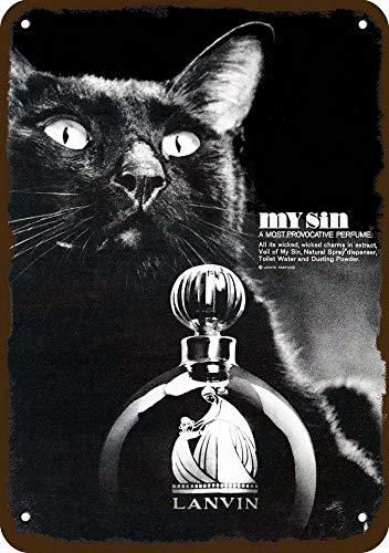 Yilooom 1966 Lanvin My Sin Perfume Gato Negro de Aspecto Vintage ...