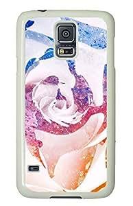 Color Splatter Rose White Hard Case Cover Skin For Samsung Galaxy S5 I9600