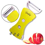 Best4Chef Professional Combo Vegetable Peeler – Stainless Steel Blade, Good ABS Grip, Complimentary Beautiful Gift Box – Free Bonus Best 4 Chef