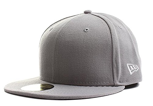 New Era Original Basic Gray 59Fifty Hat, Gray, - Era Fashion 50