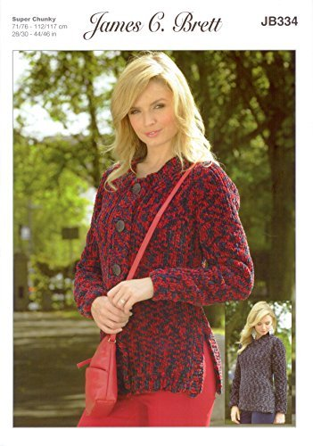 Amazon James C Brett Jb334 Knitting Pattern Ladies Sweater And