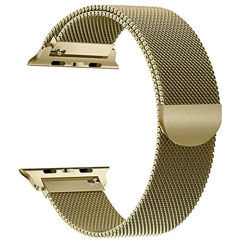 yamen Compatible with Apple Watch Band 38mm 40mm Milanese Loop for iwatch Band Series 2 Series 3 Series 4 Copper Gold (Series -