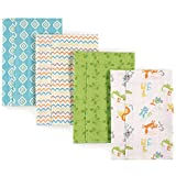 Luvable Friends Layered Flannel Burp Cloths, 4 Pack Accessory