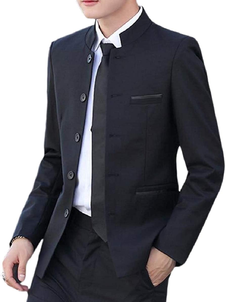 ONTBYB Mens Single Breasted Casual Slim Dinner Jacket /& Pants Set