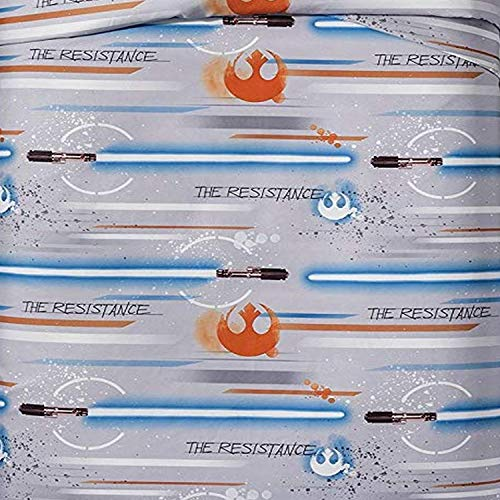 Jay Franco Star Wars Ep 8 Resistance Sheet Set Gray