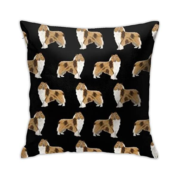 Throw Pillow Cover Rough Collie Decorative Pillow Case 18 X 18 Inch Standard Square Cushion Cover for Sofa Bedroom Men Women 1