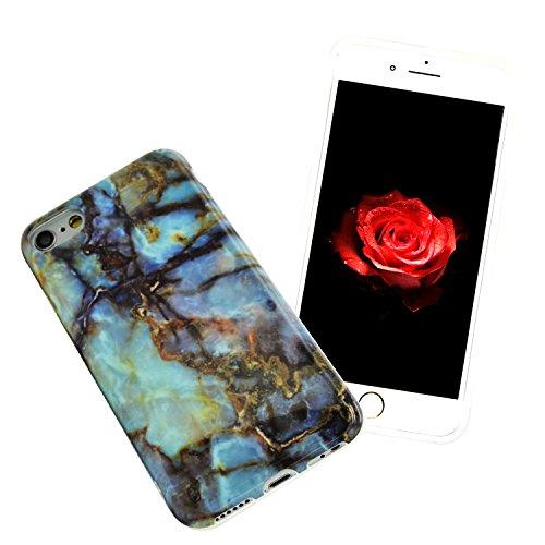 iPhone 7 Funda Mármol Carcasa Sunroyal® TPU Gel Silicona Cascara Flexible Suave Bumper Case Cover Cubierta de Protección Anti-Arañazos Choque Resistente Caja del Teléfono para iPhone 7 4.7 - Mármol P A-07