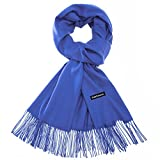 Sapp Large Soft Silky Pashmina Shawl Wraps Fringes Scarf in Solid Colors (Royal Blue)
