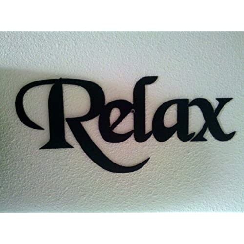 Relax Word Decorative Metal Wall Art Home Bathroom Decor By JNJ Metalworks