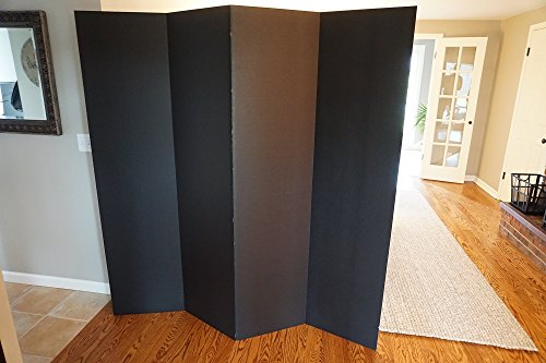 DormCo Privacy Room Divider - (Black Room Divider)