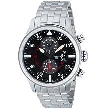Torgoen Pilot T33 Series T33201 45mm Stainless Steel Case Steel Bracelet Mineral Men's Watch