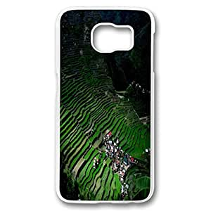 Personality customization Beautiful World Design PC Case for Samsung S6 Terraced Fields By LINtt Cases