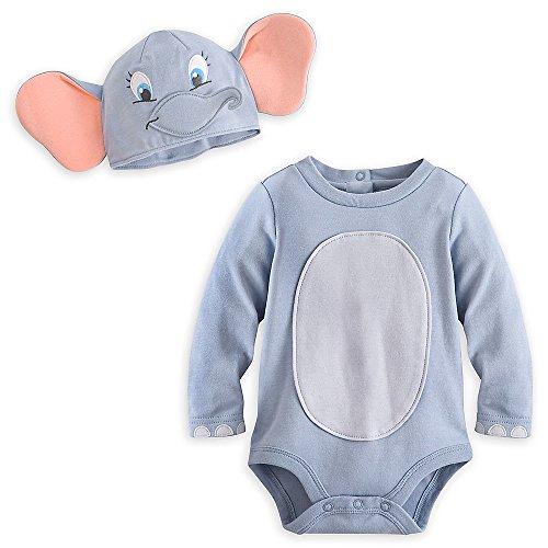 Disney Store Deluxe Dumbo Halloween Costume Bodysuit Size 12-18 -