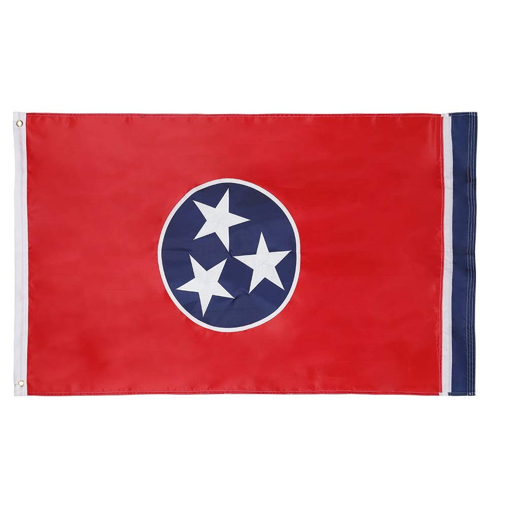 Cascade Point Flags 3x5 Feet State Flag – Embroidered Oxford 210D Heavy Duty Nylon, Durable and Long Lasting - 4 Stitch Hemming - Brass Grommets (Tennessee)