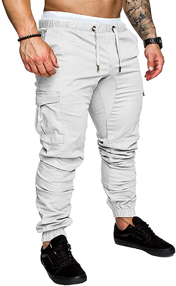 acelyn Mens Casual Trousers Multi