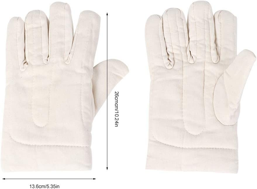 Guantes de jardín: 1 par de guantes de trabajo de lona de doble ...
