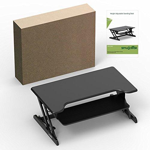 Standing Desk, Stand up Adjustable Desk Riser Converter for Desktop Laptop Dual Monitor by smugdesk (Image #6)