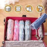 12 Travel Compression Bags, Hibag 12-Pack Roll-Up