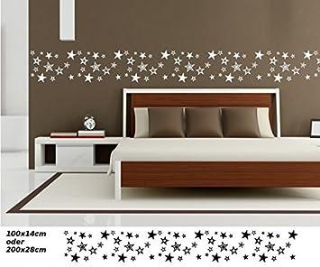 Wandtattoo selbstklebend Bordüre Stern 65 Sternen Set Kinderzimmer ...