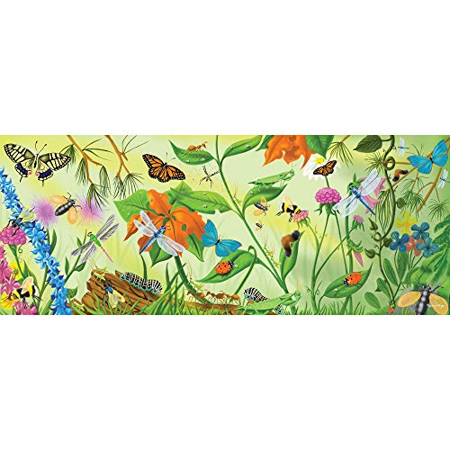 Melissa & Doug Bugs Floor Puzzle (Easy-Clean Surface, Promotes Hand-Eye Coordination,24 Pieces, 4 Feet Long, Great Gift for Girls and Boys - Best for 3, 4, 5, and 6 Year Olds)