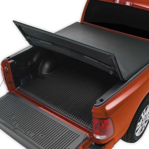 (Prime Choice Auto Parts TC1050194 One 5.8ft Bed Tri-Fold Black Leather Look Tonneau Cover)