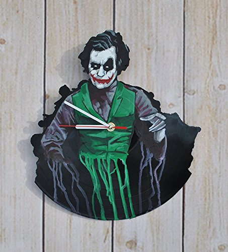 [Handmade Superheroes Figures HANDPAINTED Vinyl Record Wall Clock - Get Unique Home Wall Decor - Gift Ideas For Boys and Girls - Comics Theme Unique Art] (Knight Family Costume)