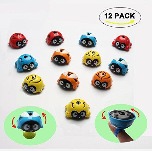 HoDrme 12 PCS Stacking Ladybug Spinning Tops Toy Kit Push and Go Toy Friction Powered Car by HoDrme
