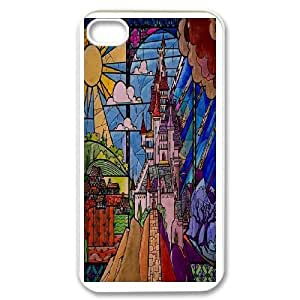 iPhone 4,4S Phone Case White Beauty and the Beast The Enchanted Christmas MN6620889