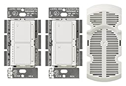 Lutron MA-LFQ3-WH Maestro Multi-Location Fan Control Kit, White