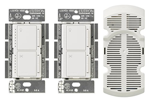 Lutron MA-LFQ3-WH Maestro Multi-Location Fan Control Kit, White by Lutron