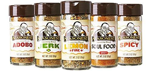 Seasonest Keep It Hot Organic Herbs and Spices Seasonings (Variety 5-Pack)