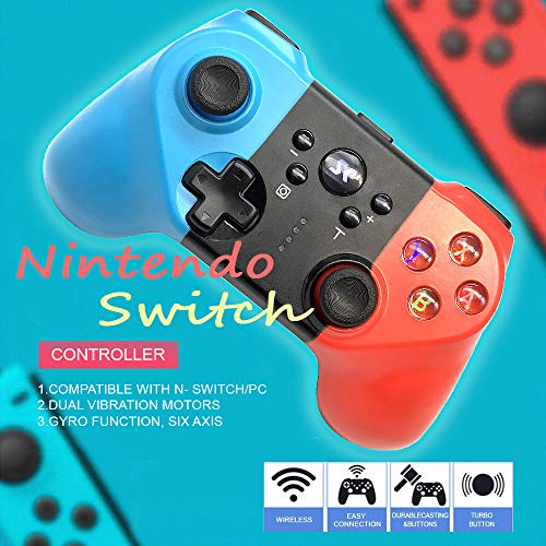 Wireless Controller for Nintendo Switch,Pro Gamepad Joysticks Remote for Switch PS3 PC Steam with Gyro and Turbo Function