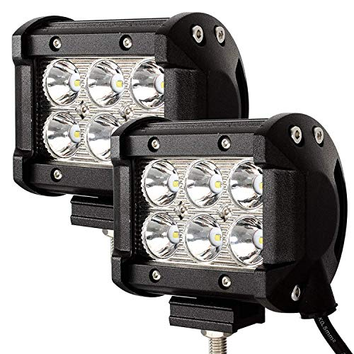 LED Pods Light Bar, Viesyled 2x 18W Waterproof CREE Spot Led Fog Light Bar Work Light, Led Off-road Lights, Driving Fog Light with Mounting Bracket for Off-road, Truck, Car, SUV, Jeep