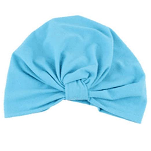 78758d55c Vicky Wheeler Newborn Toddler Kids Baby Turban Cotton Beanie Hat Winter Cap  (Blue)