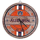 FOCO Auburn Tigers NCAA Barrel Wall Clock
