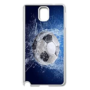 Football Soccer Ball Splash Samsung Galaxy Note 3 Cell Phone Case White Pretty Present zhm004_5014483