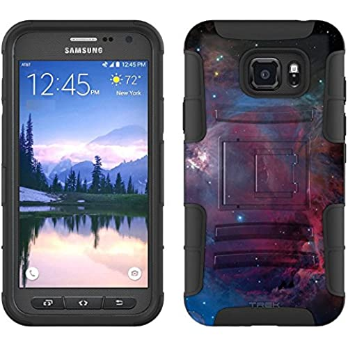 Samsung Galaxy S7 Active Armor Hybrid Case Nebula Blue Pink 2 Piece Case with Holster for Samsung Galaxy S7 Active Sales